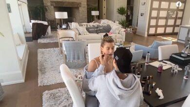 Photo of Салон на дому: Джастин Бибер сделал макияж для Хейли Болдуин